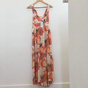 NWT Ava Sky Dress Navia (S) in Peach Palawan